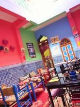 Colourful hostel in Marrakesh