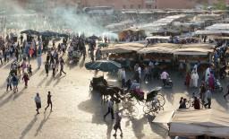 Jemaa el-Fnaa market square in Marrakesh