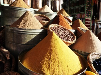Moroccan spices at the Marrakesh market
