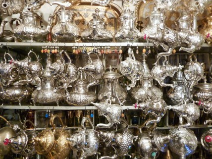 Traditional Moroccan teapots