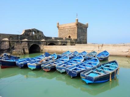 Iconic blue boats of Essaouira