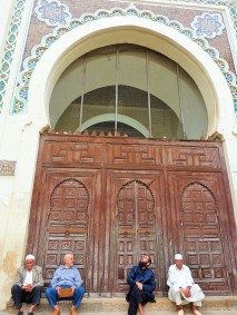 Men gather in Fes