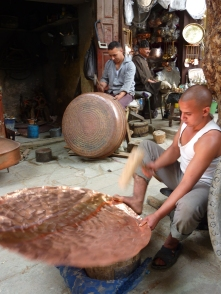 Copper craftsmen in Fez