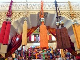 Tassles in Fez market