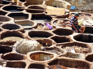 The famous tanneries of Fes