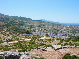 View of Chefchaoeun from the mountain