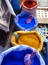 Colourful dyes in cheafchaouen