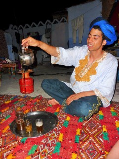 A new friend in Chefchaouen pours traditional tea