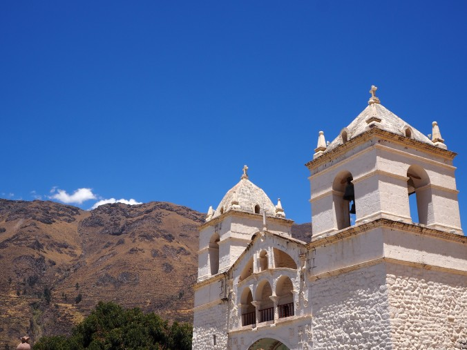 The end of the Colca trip takes you through the beautiful town of Chivay